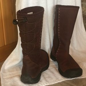 Keen wool and leather boot